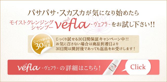 パサパサ・スカスカが気になり始めたら モイストクレンジングシャンプーvefla-ヴェフラ-をお試し下さい!!